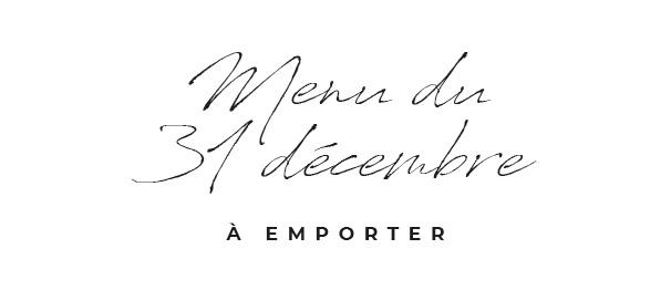 Menu du 31 décembre